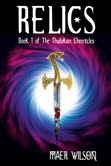 Relics cover image of a sword before a vortex.