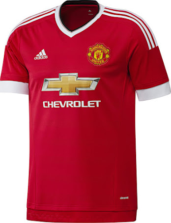 Adidas Manchester United Home 15/16 Kit (front)