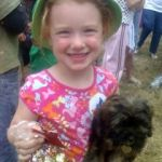 Georgia and Lucy win pet parade at Middleton, 2008