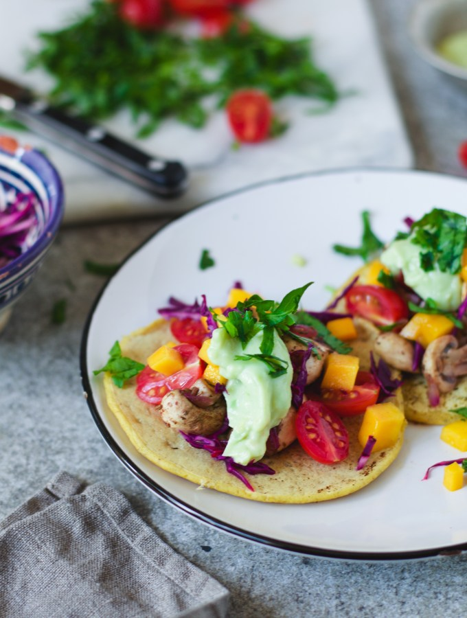 oriental chickpea taco