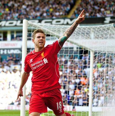 Moreno celebrates. (Liverpoolfc.com)