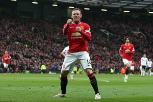 Wayne Rooney celebrates his goal in this fixture last season (source: dailymail.co.uk)