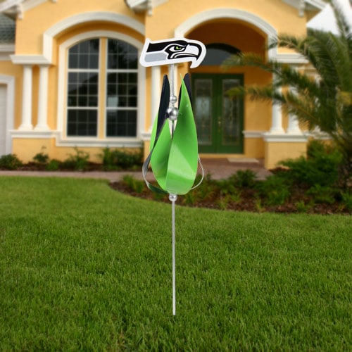 Seattle Seahawks Spinning Tulip Lawn Ornament College BlueGreen