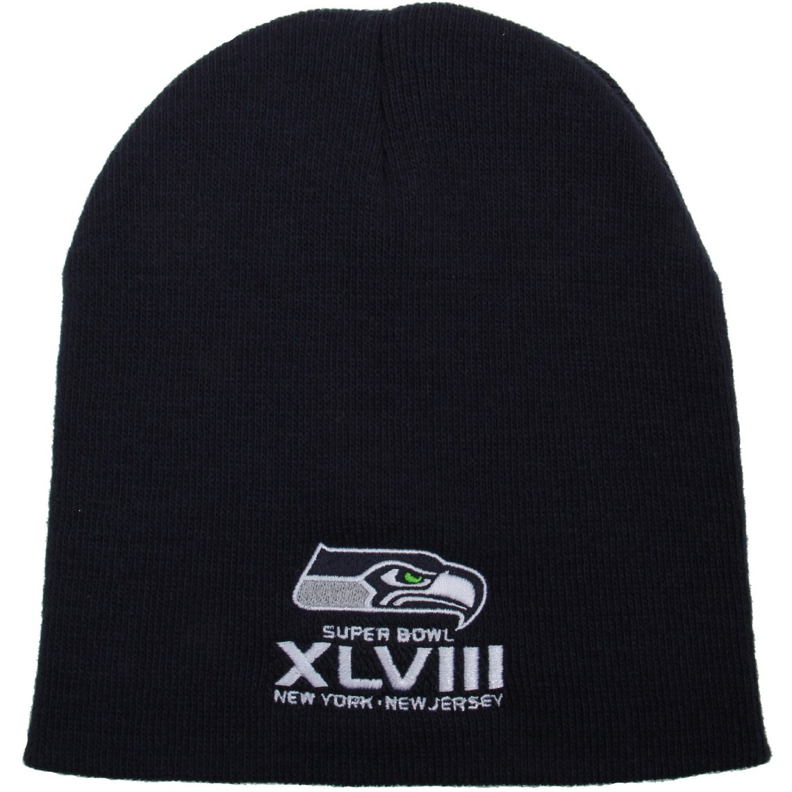 47 Brand Seattle Seahawks Super Bowl XLVIII Bound Uncuffed Acrylic Beanie College Navy