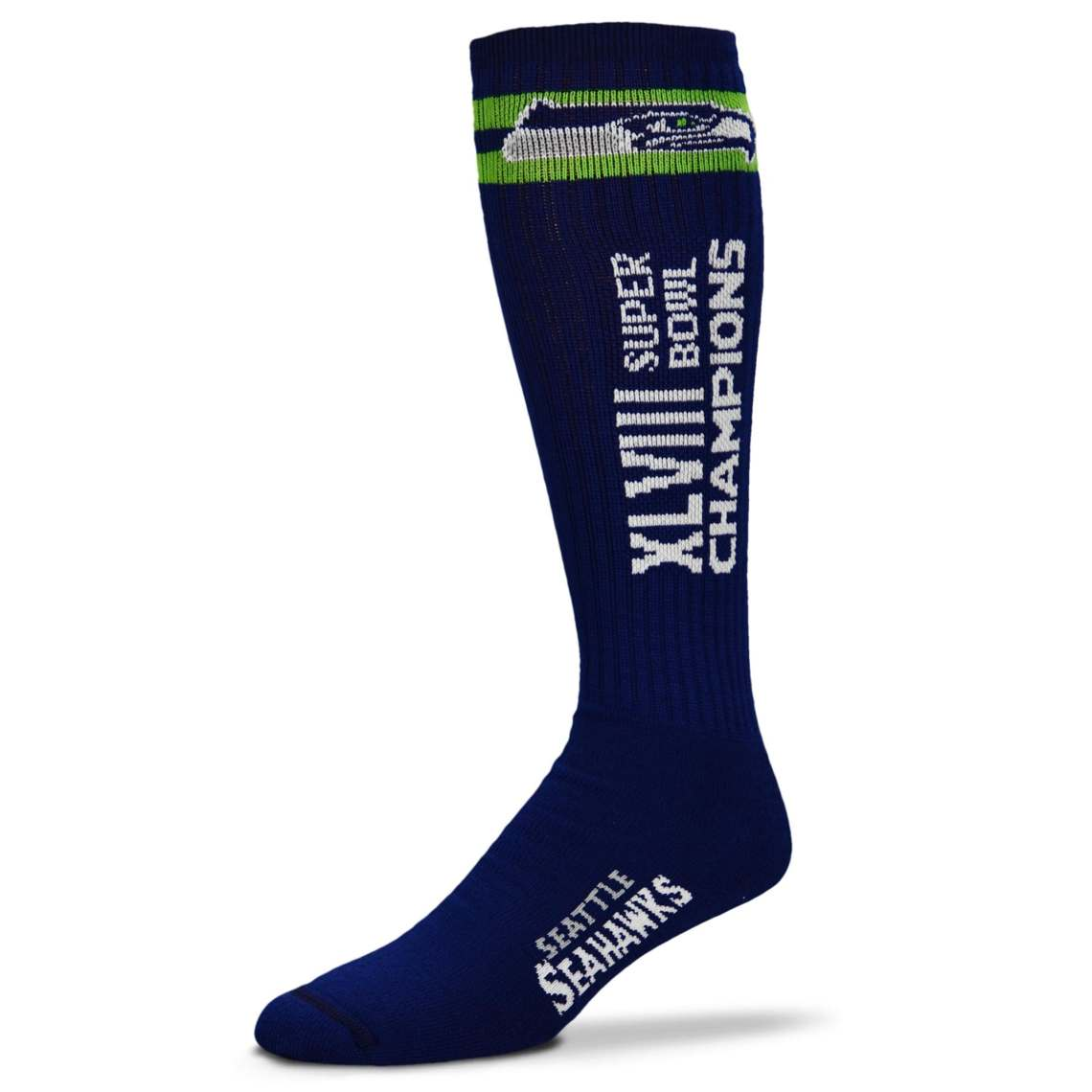 Seattle Seahawks Super Bowl XLVIII Champions Tube Socks College Navy