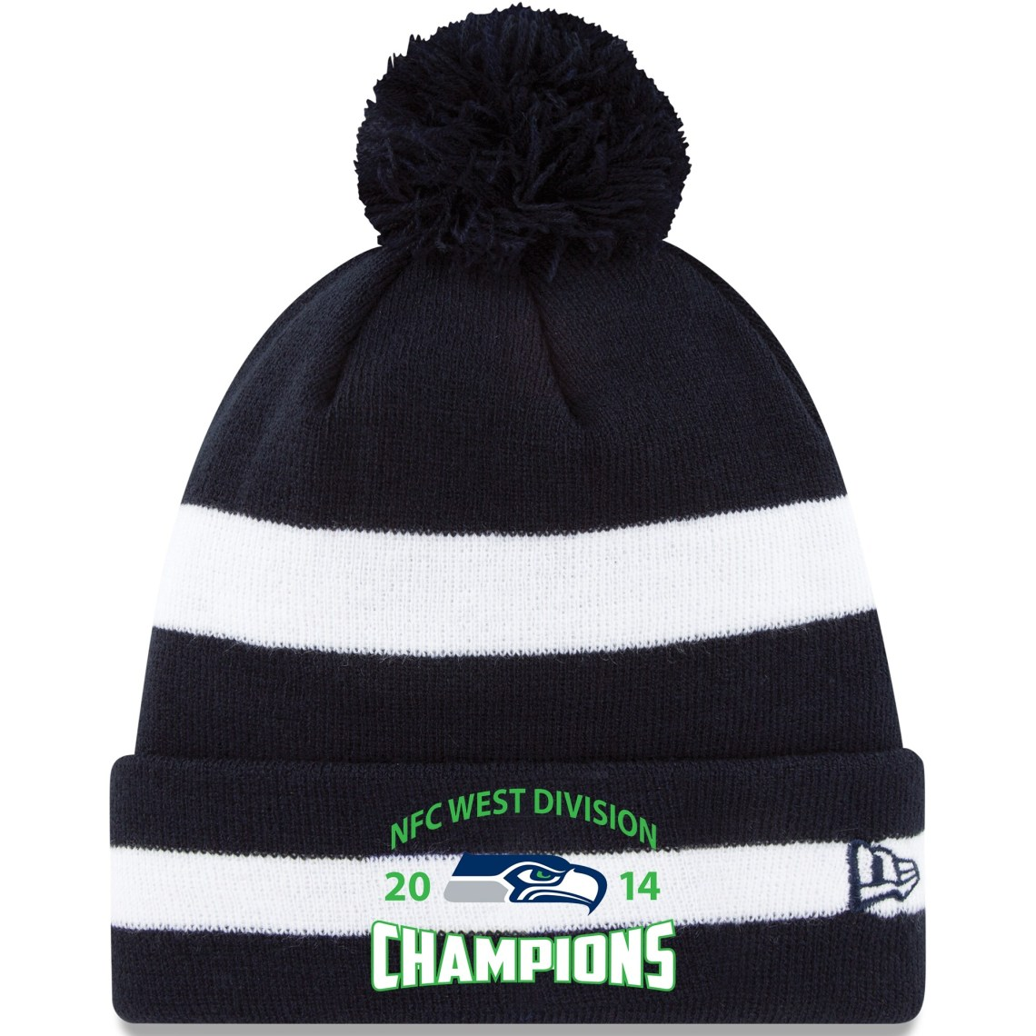 Seattle Seahawks New Era 2014 NFC West Division Champions Cuffed Knit Hat - College Navy