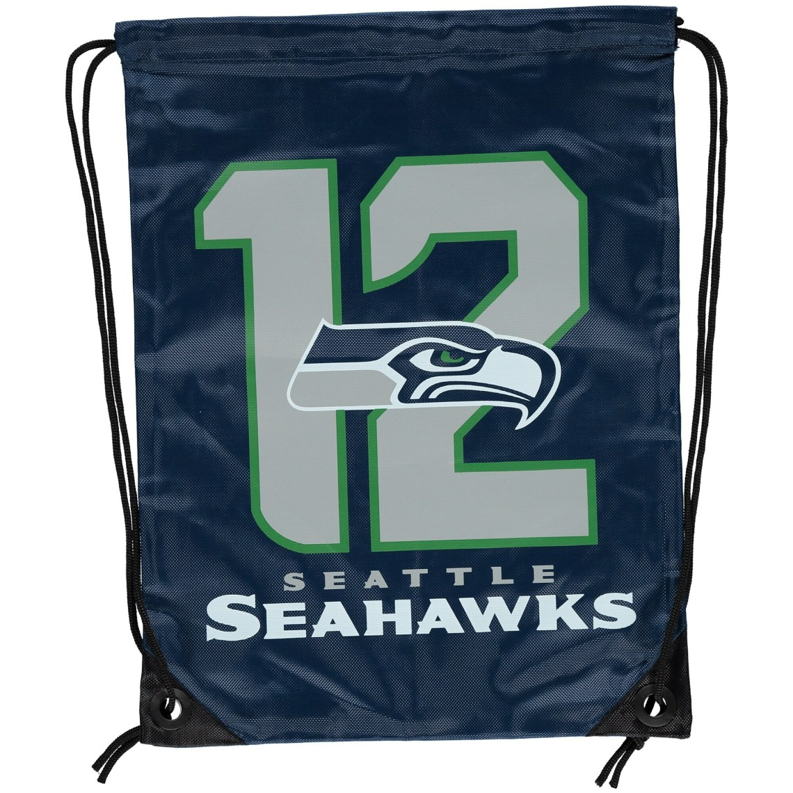 12th Fan Seattle Seahawks Player Elite Drawstring Backpack