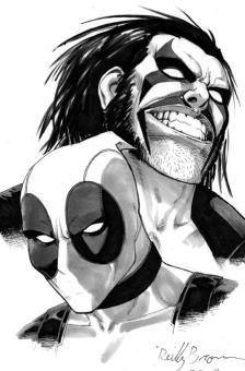 Deadpool and Lobo by Reilly Brown