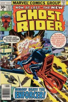 Ghost Rider 22 cover by Jack Kirby