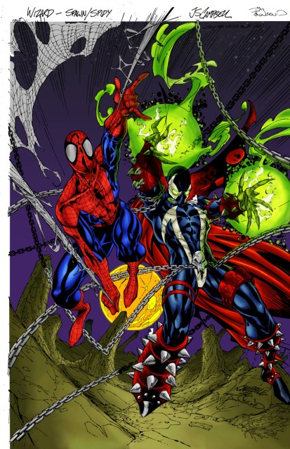 Spider-Man and Spawn by J. Scott Campbell