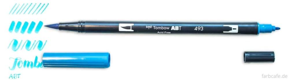 Tombow ABT Dual Brush Pen Strichvergleich auf FarbCafé