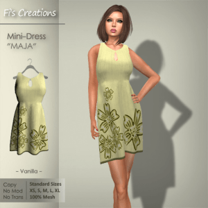 Fi's Creations - MAJA vanilla Mini-Dress - PICTURE
