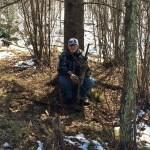 Ethyn takes a break under a tree
