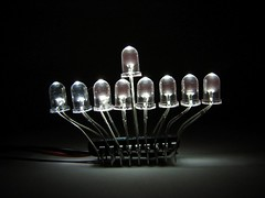 LED Menorah candles - 8
