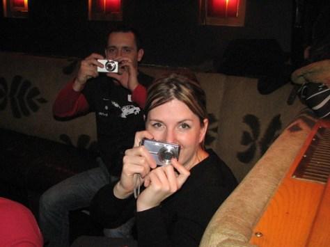 Tara takes a picture
