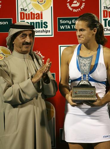 Mauresmo's runner-up trophy