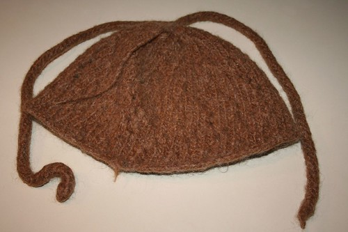Nudu cap and first icord, felted