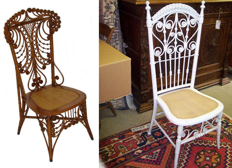 Heywood-Wakefield Victorian Wicker Chair - And I Walked?