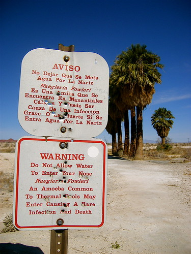 Strange Sign Near Lake Mead