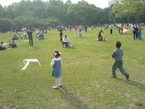 Kite Flying in Zhongshan Park