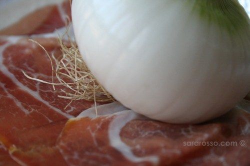 Prosciutto di Parma and Onion