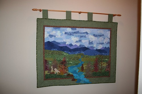 painting with fabric, colorado