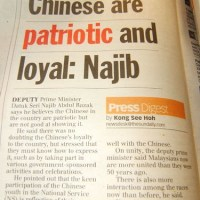 Malaysian Chinese Are Patriotic....