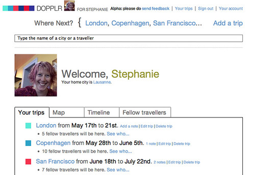 My Dopplr Page