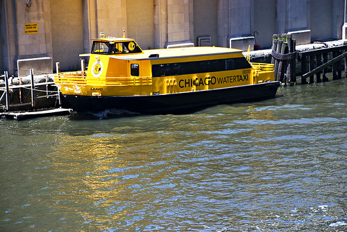 Chicago River Taxi is Yellow