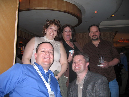 Li Evans, Kim Krause Berg + husband Eric, Matt McGee, Greg Meyers - SES NY 07