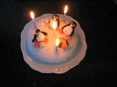 Happy Birthday Penguin Cake