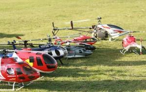 Concurs de elicoptere radiocomandate outdoor, la Sânpetru
