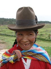 Woman in the Andes