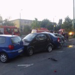 FOTO Accident în Centrul Civic, la Colegiul Național Meșotă