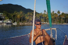 Marigot Bay - Lucas bateau stoppeur