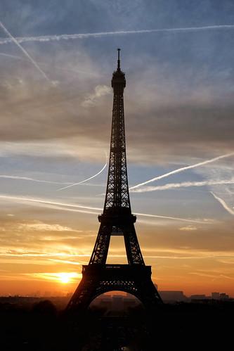 Sunrise at the Trocadero Gardens