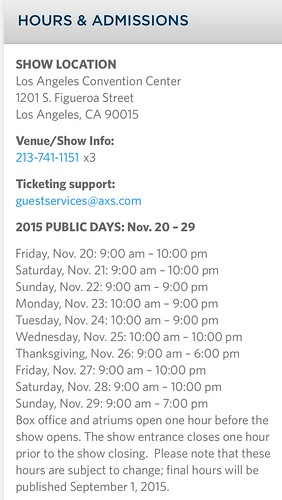"""LOS ANGELES CA USA - """"LA Auto Show""""  OPEN TO THE PUBLIC - NOVEMBER 20-29, 2015 - Open on Thanksgiving - • <a style=""""font-size:0.8em;"""" href=""""http://www.flickr.com/photos/134158884@N03/22650151063/"""" target=""""_blank"""">View on Flickr</a>"""