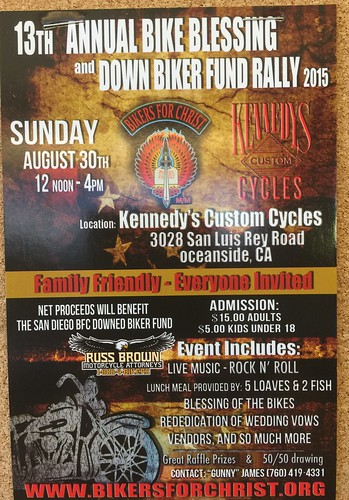 """OCEANSIDE CA USA """"Bike Blessing and Down Biker FundRaiser"""" - Aug 30 - Sun -Noon-4pm - Family Friendly Everybody http://t.co/QxMLkxqWw9 • <a style=""""font-size:0.8em;"""" href=""""http://www.flickr.com/photos/134158884@N03/20936800616/"""" target=""""_blank"""">View on Flickr</a>"""