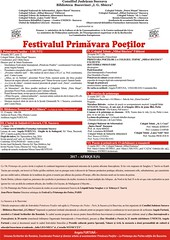 primavara poetilor afis program                                       final 2017