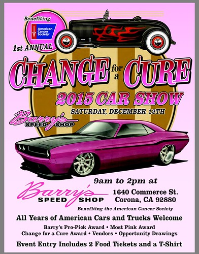 "CORONA CA USA ""Change for a Cure Car Show"" December 12 Saturday - 9am to 2pm  - Opportunity,  Drawings, Awards - credit: www.SoCalCarCulture.com • <a style=""font-size:0.8em;"" href=""http://www.flickr.com/photos/134158884@N03/23544798912/"" target=""_blank"">View on Flickr</a>"