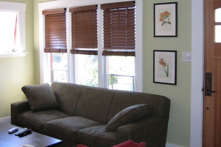 paint ideas accenting a green living room kitchen