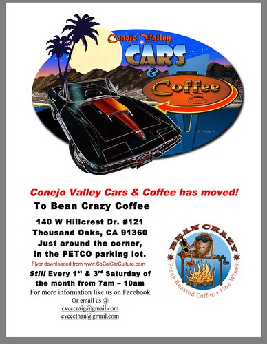 """THOUSAND OAKS CA USA - """"Conejo Valley Cars n Coffee"""" Saturday Morning 7am to 10am - September 5 -  Bean Crazy Coffee - www.SoCalCarCulture.com • <a style=""""font-size:0.8em;"""" href=""""http://www.flickr.com/photos/134158884@N03/20507035524/"""" target=""""_blank"""">View on Flickr</a>"""