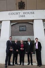 Jaxon, Justin, Donna, Jody, and lawyer Carmel