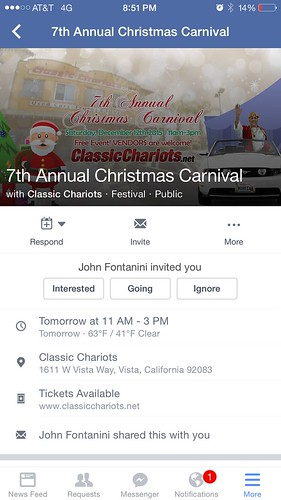 "OCEANSIDE CA USA - ""Classic Chariots 7th Annual Christmas Carnival""  Dec 12th Sat 11am to 3pm - bring your family friends! photos with Santa, food, face painting, kid games, bounce house, Christmas tree giveaways & prize raffles vendors too • <a style=""font-size:0.8em;"" href=""http://www.flickr.com/photos/134158884@N03/23581469732/"" target=""_blank"">View on Flickr</a>"
