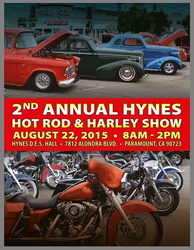"PARAMOUNT CA USA - ""2nd Annual Hynes Hot Rods and Harley Show"" August 22 Saturday 8AM/2PM - beer and wine garden, raffles, music and food - credit: www.SoCalCarCulture.com • <a style=""font-size:0.8em;"" href=""http://www.flickr.com/photos/134158884@N03/20561198250/"" target=""_blank"">View on Flickr</a>"