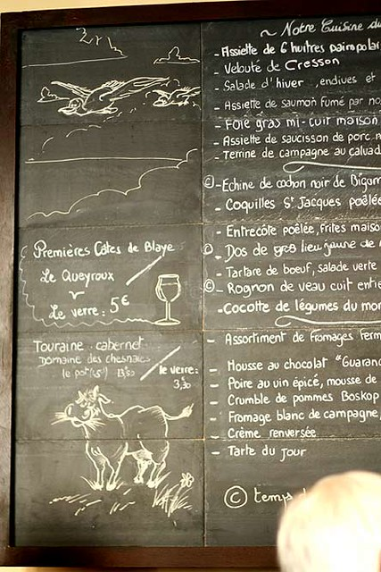 Café des Musées Menu