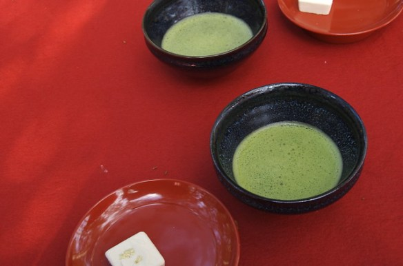 Matcha at Kinkaku