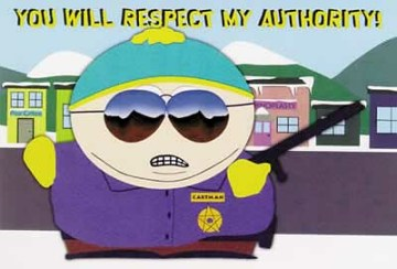 Respect my authority!