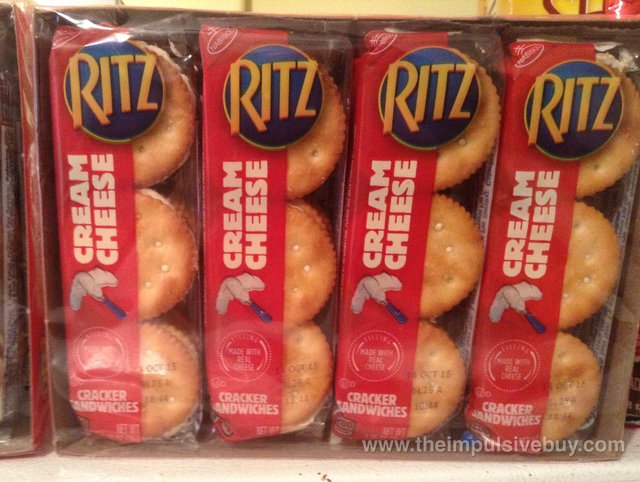 Ritz Cream Cheese Cracker Sandwiches