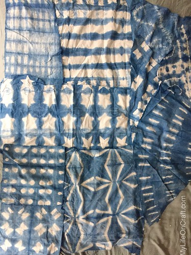 Shibori samples made at home